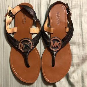 MICHAEL Michael Kors Black Sandals, Size 8.5